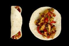 Fajita del pollo Fotografia Stock Libera da Diritti