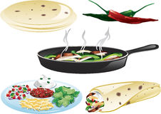 Fajita icons Stock Images
