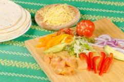 Fajita ingredients Stock Photo
