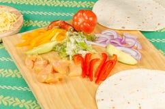 Fajita ingredients Stock Image
