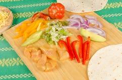 Fajita ingredients still life Stock Photos