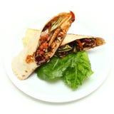 Fajita mexicain de poulet de cuisine Photos libres de droits