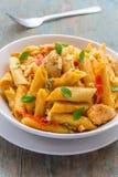 Fajita Pasta. Chicken fajita pasta vertical stock image Royalty Free Stock Image