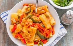 Fajita Pasta. Image take from above stock image