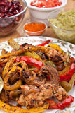Fajita Peppers with Chicken Breast Meat Stock Images