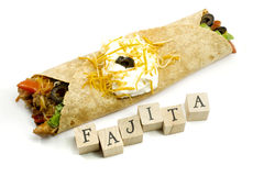 Fajita and Wooden Blocks Stock Image