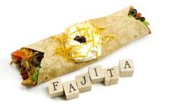 Fajita and Wooden Blocks Stock Image