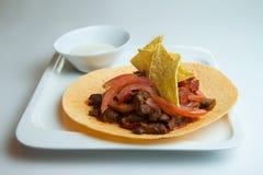 Fajitas, μεξικάνικα λωρίδες βόειου κρέατος Στοκ εικόνα με δικαίωμα ελεύθερης χρήσης