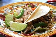 fajitas цыпленка мексиканские Стоковые Фото
