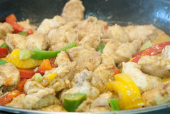 Fajitas. While are being cooked Royalty Free Stock Images
