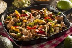 Fajitas caseiros da galinha com vegetais Imagem de Stock Royalty Free