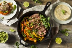 Fajitas caseiros do bife foto de stock