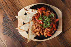 Fajitas with chicken Stock Photography