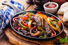 Fajitas da carne Fotos de Stock Royalty Free