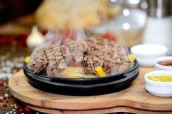 Fajitas de la carne de vaca Foto de archivo libre de regalías