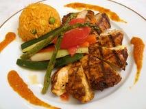 Fajitas gastronomes de poulet photographie stock libre de droits