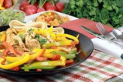 Fajitas gourmet served style Stock Photos