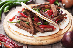 Fajitas with grilled vegetable Royalty Free Stock Photography