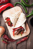 Fajitas with grilled vegetable Stock Photos