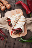 Fajitas with grilled vegetable Royalty Free Stock Image