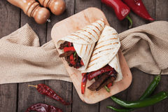 Fajitas with grilled vegetable Royalty Free Stock Photos