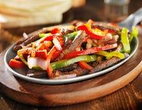 Fajitas mexicanos da carne Fotos de Stock Royalty Free