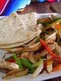 Fajitas mexicanos del pollo Imagenes de archivo