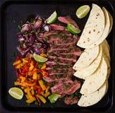 Fajitas mexicanos para el filete de carne de vaca Foto de archivo