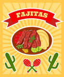 Fajitas poster Royalty Free Stock Photos