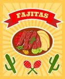Fajitas poster Royalty Free Stock Photos