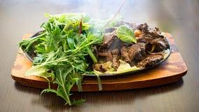 Βόειο κρέας Fajitas Sizzling Στοκ Εικόνα