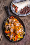 Fajitas Tex-Mex Dinner Royalty Free Stock Photos