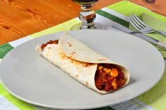 Fajitas vegetarian. Vegetarian fajitas healthy mexican food stock image