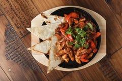 Fajitas z kurczakiem Fotografia Stock