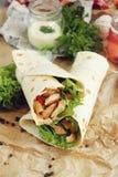 Fajite del pollo Fotografia Stock