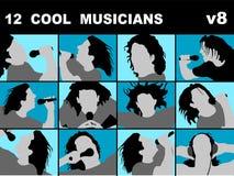 fajne muzyków śpiewać karaoke ilustracja wektor