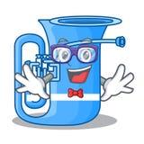 Fajtłapy tuba odizolowywający z charakterem w ilustracji