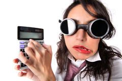 Fake accountant Royalty Free Stock Image