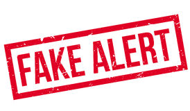 Fake Alert rubber stamp Stock Image