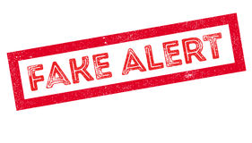 Fake Alert rubber stamp Stock Photography