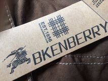 Fake Burberry Stock Photography