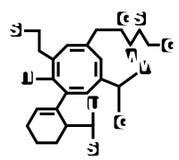 Fake chemical formula Stock Image