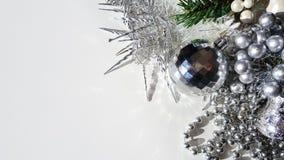 Fake christmas icicles Stock Photo