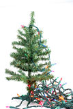 Fake christmas tree royalty free stock image