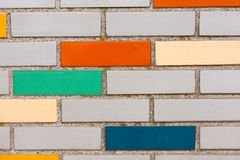 Fake colorful brick wall siding Stock Photo