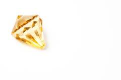 Fake diamond. Laying on white background Royalty Free Stock Images
