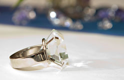 Fake Diamond Ring Royalty Free Stock Photography