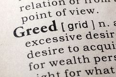 Dictionary definition of the word greed. Fake Dictionary, Dictionary definition of the word greed . including key descriptive words royalty free stock photos