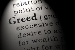 Dictionary definition of the word greed. Fake Dictionary, Dictionary definition of the word greed . including key descriptive words royalty free stock images