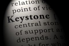 Dictionary definition of the word keystone. Fake Dictionary, Dictionary definition of the word keystone . including key descriptive words royalty free stock photo